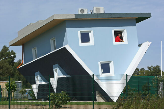 Upside Down House Nears Completion