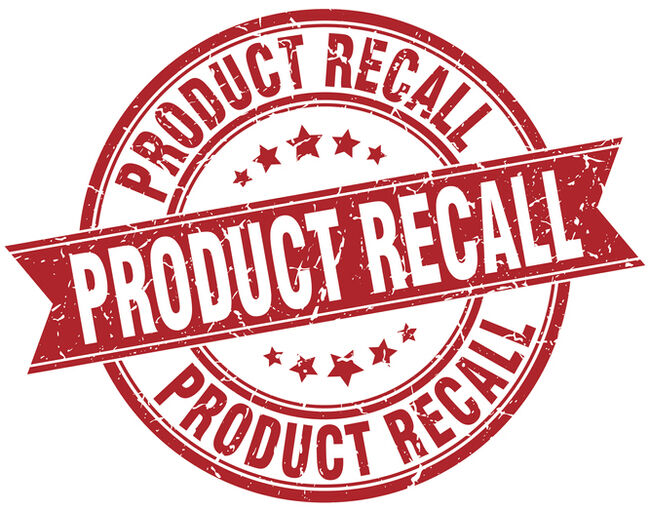product recall round grunge ribbon stamp