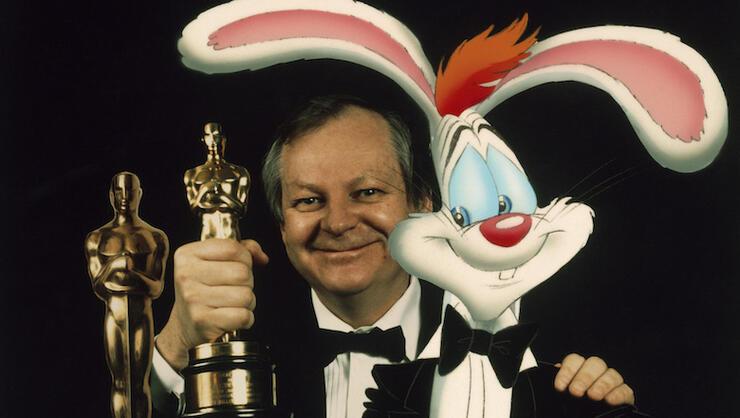Richard Williams et 'Roger Rabbit' à Londres en 1989