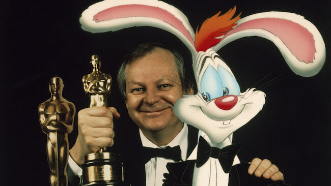 Richard Williams et 'Roger Rabbit' à Londres en 1989