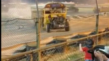 National News - 'Zombie' School Bus Barrels Toward Crowd In Heart-Stopping Video