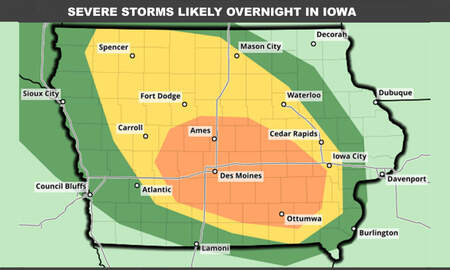 WOC Local News - Severe storms targeting Iowa overnight - STORM MAPS