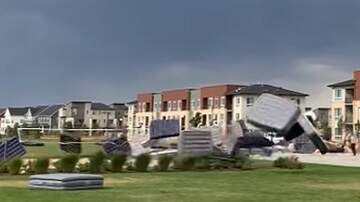 Patrick Sanders - High Winds In Colorado Send Mattresses Rolling Through A Neighborhood