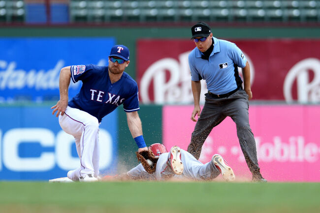 Los Angeles Angels of Anaheim v Texas Rangers - Game One
