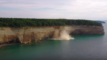 JB - **VIDEO** Kayakers Come Dangerously Close to Cliff Collapse