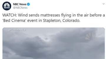 Bree - Bed Cinema Event Turns into Beds Being Flown Everywhere Due to Wind Gust