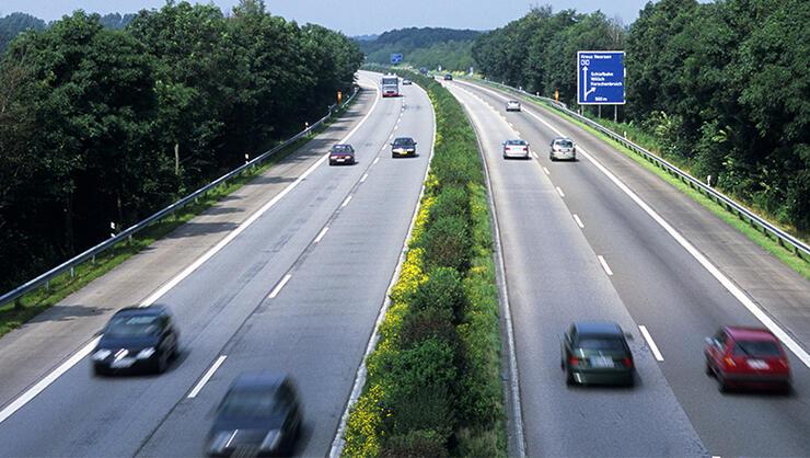 Germany, Rhineland, Autobahn, Between Dusseldorf And