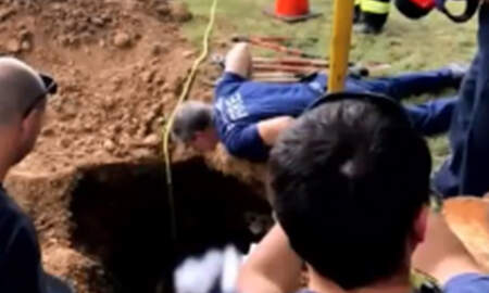 Weird News - Firefighters Rescue Woman Stuck In Septic Tank For Days