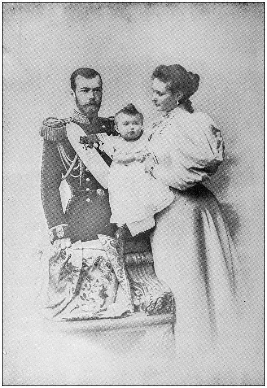 Antique photograph: Czar Nicholas II and Family