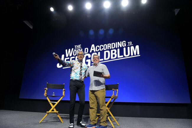 Jeff Goldblum at Disney+ Pavilion At D23 Expo Friday, August 23