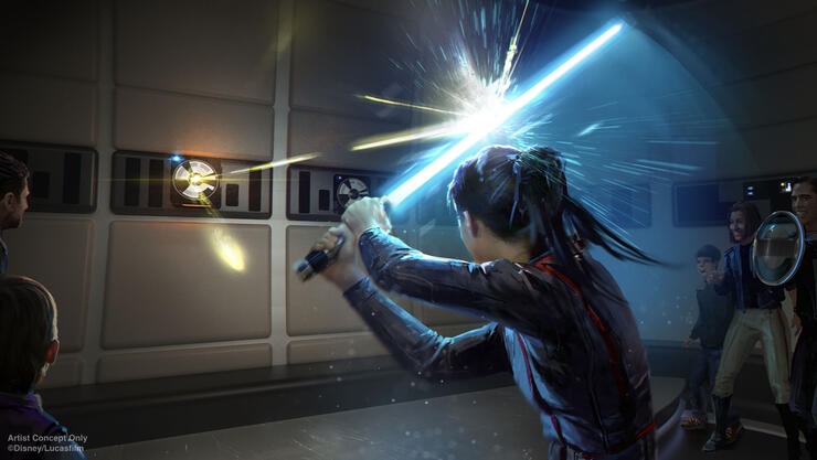 light saber training