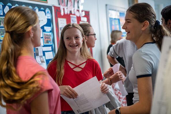 UK School Pupils Receive Their GCSE Results