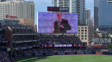Sports Top Stories - San Diego Padres Rickroll Boston Red Sox Fans at Petco Park