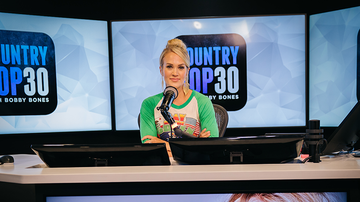 image for Carrie Underwood Guest Hosts Country Top 30, Opens Up About Her Life