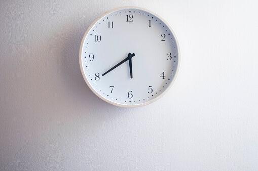 A still life of white clock
