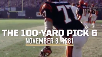 Lance McAlister - This date 1981: Watch the 100-yard Pick 6 by Bengals