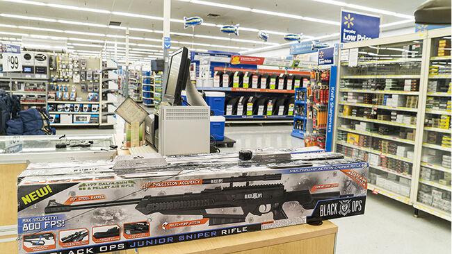 Rifles at Walmart
