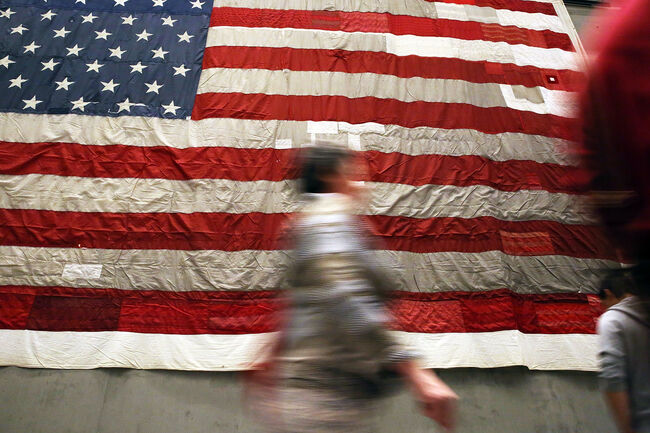 New York's Sept. 11th Museum Displays National 9/11 Flag