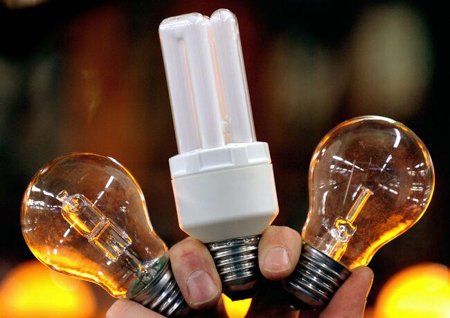 Energy-saving light bulbs (C and L) and