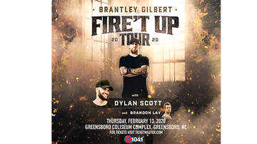None - Q104.1 Proudly Presents Brantley Gilbert Fire't Up Tour Greensboro