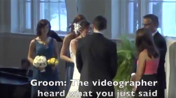 Weird News - Bride's Embarrassing Wedding Day Confession To Groom Caught On Hot Mic