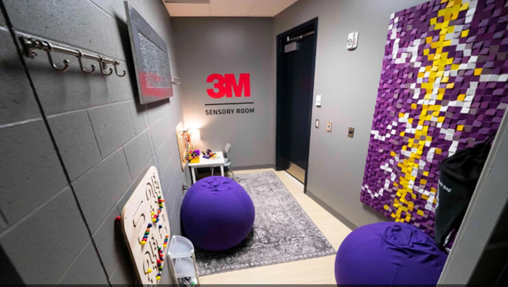 A photo of the sensory-inclusive room at U.S. Bank Stadium