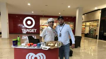 Photos - Adam Rivers and KC101 with Chaz Cream Puff Guy at Trumbull Mall on 9/9/19