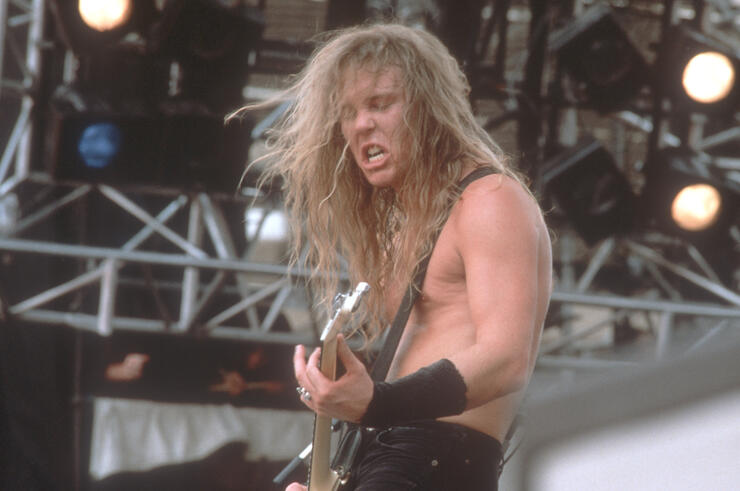 "Metallica Singer At ""Monsters Of Rock"" Festival"