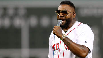 Sports - David Ortiz Throws Out First Pitch At Fenway