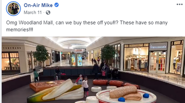 Mike - Dear Mike, You Can NOW Buy The Woodland Mall BACON AND EGGS!!!