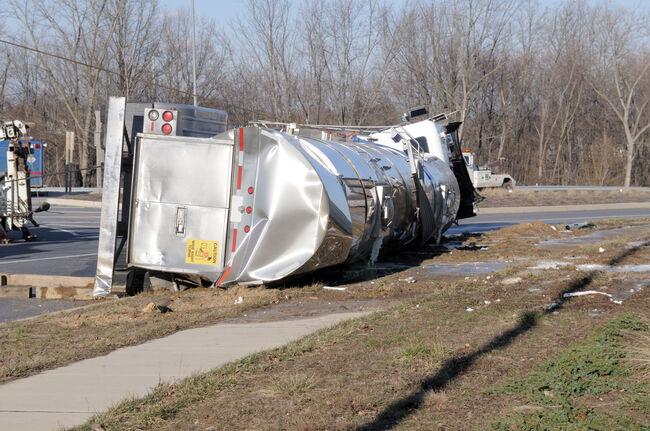 Over Turned Milk Tanker