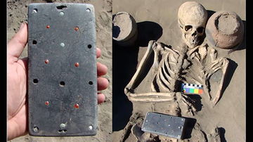 Weird News - Archeologists Discover 2,137-Year-Old 'iPhone' Buried In Woman's Grave