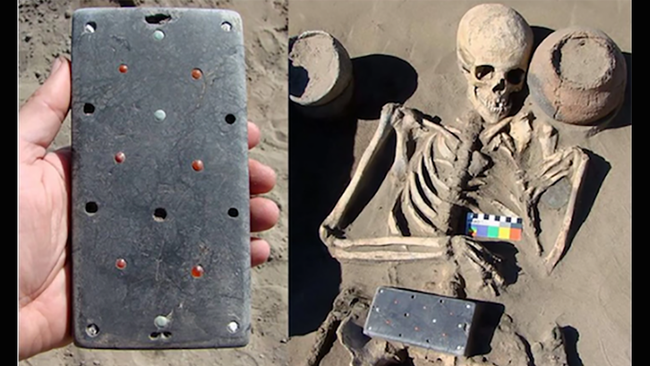 Archeologists Discover 2,137-Year-Old 'iPhone' Buried In Woman's Grave