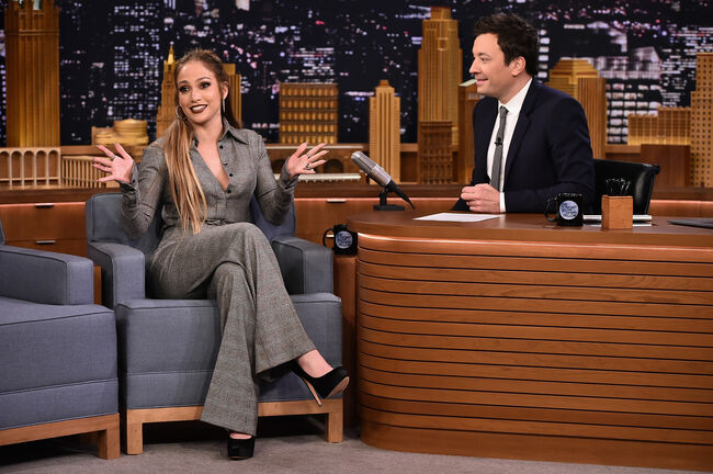 "Jennifer Lopez Visits ""The Tonight Show Starring Jimmy Fallon"""