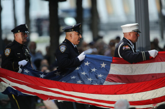 New York City Commemorates 18th Anniversary Of The 9/11 Terror Attacks
