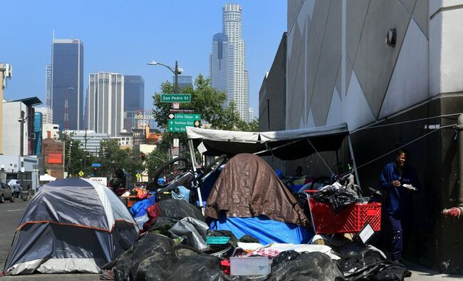 US-CALIFORNIA-HOMELESSNESS-SKID ROW
