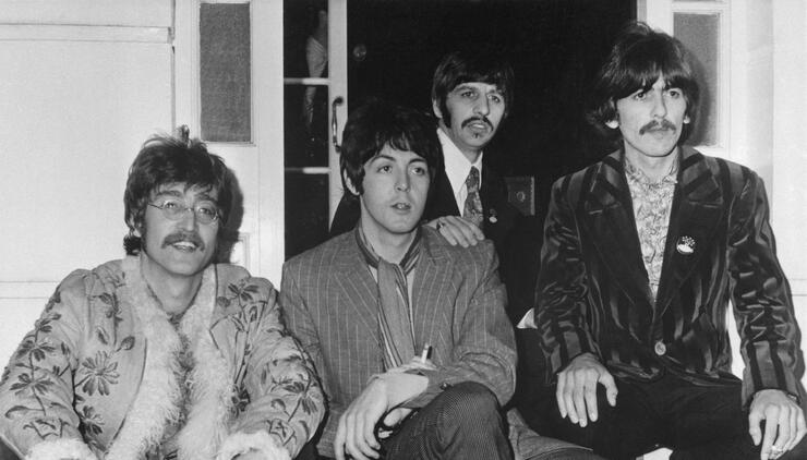 The Beatles at Brian Epstein's Home