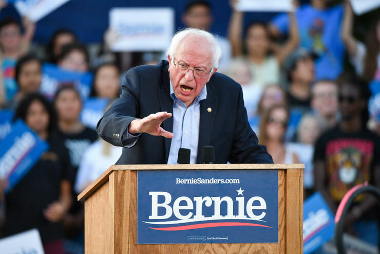 Sen. Bernie Sanders Makes First Campaign Stop In Colorado For 2020 Race