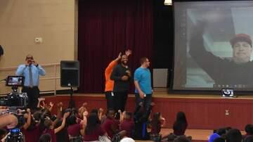 Beth and Friends - Larry Fitzgerald & Garth Brooks Surprise Phoenix Elementary School