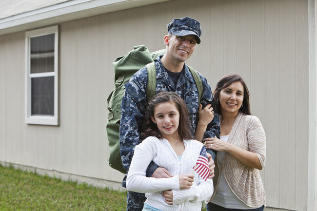 US service man with family