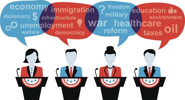 Four Politicians Debating