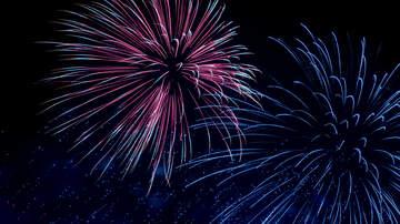 Dover International Speedway - Saturday Night Fireworks in RV Lots