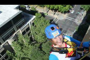 The Afternoon News with Kitty O'Neal - Rappelling Downtown Building for At-RisK Youth