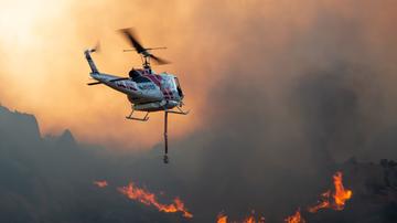 Local News - Brushfire Growing in Juniper Flats