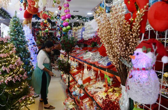 INDIA-RELIGION-ECONOMY-CHRISTMAS