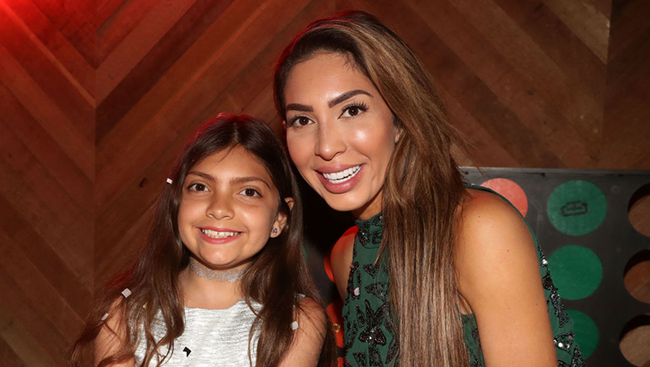 Farrah Abraham Mom-Shamed Over Controversial Pic Of 10-Year-Old Daughter