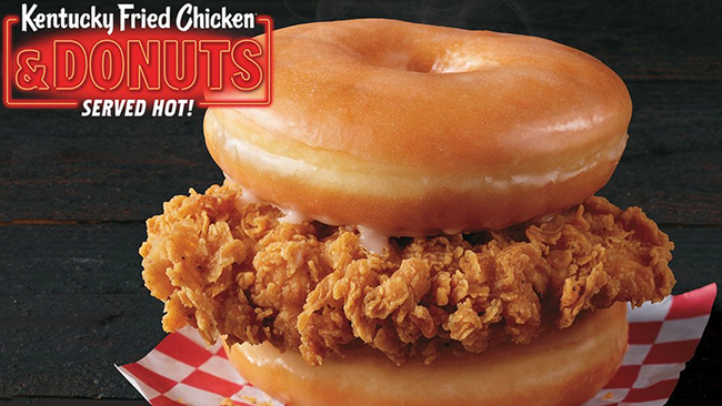 A Donut And Fried Chicken Sandwich Is Being Tested Out AT KFC
