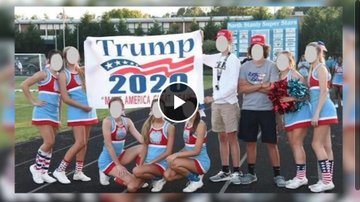 Qui West - High School Cheerleaders On Probation After Posing With Trump 2020 Sign!