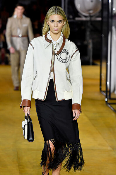 Kendall Jenner Walks The Burberry Runway In London