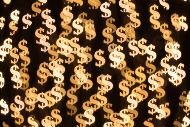Dollar Sign Shape Bokeh Backdrop